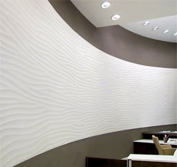 "Curved Sculptural Walls: Curved Sculptural ""Flow wave"" wall, commercial property, Cyprus"
