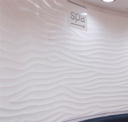 "Curved Sculptural Walls: Curved Sculptural ""Flow Wave"" wall, Spa Pellings, Bromley, UK"