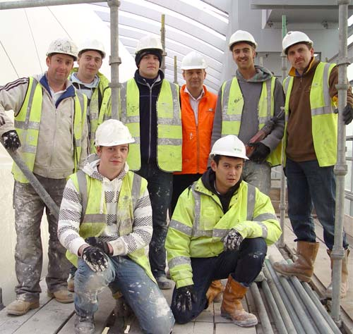 Armourcoat contracts team working on the unique Darwin Cocoon in London