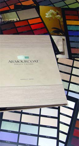 Armourcoat History: 1998: Armourcoat release the Selector Range of fully repeatable finishes