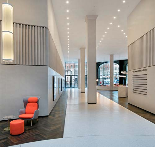 Commercial: Armourcoat Acoustic ceiling and