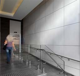 Commercial: Hand applied panels in Armourcoat Polished Plaster