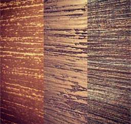 Materials Palettes: Custom polished plaster finishes (left) BUK 7695 (middle) BUK 7915 (right) BUK 6385