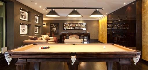 Residential: Armourcoat Polished Plaster custom finishes, games room, private residence