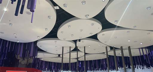Istanbul Grand Airport: Ceilings in duty free area