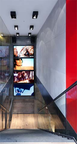Stone effect panels: Stone Effect Panels at Rayban store in London