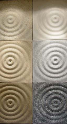 Stone effect panels: Stone Effect Design: Ripples