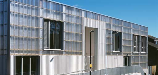 Exterior Facade panels: Ductal UHPC facade panels at TNG (The New Generation) Youth Centre, Lewisham