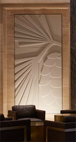 Commissions: Stone Effect panels, Adelphi Building lobby