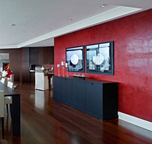 Spatulata: Spatulata feature wall in a private residential apartment, Coventry, Canada