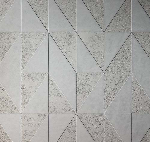 Stencils: Geometric stencil design - Smooth on Pitted finish