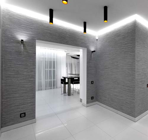 Travertine: Travertine Polished Plaster, Private Residence, Ukraine