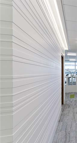 Eastpoint Business Park: Sculptural Barcode in communal areas