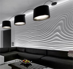 "Sculptural: ""Flow Wave"", private residence, Kiev"