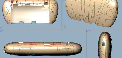 The Darwin Cocoon: Cocoon CAD working model